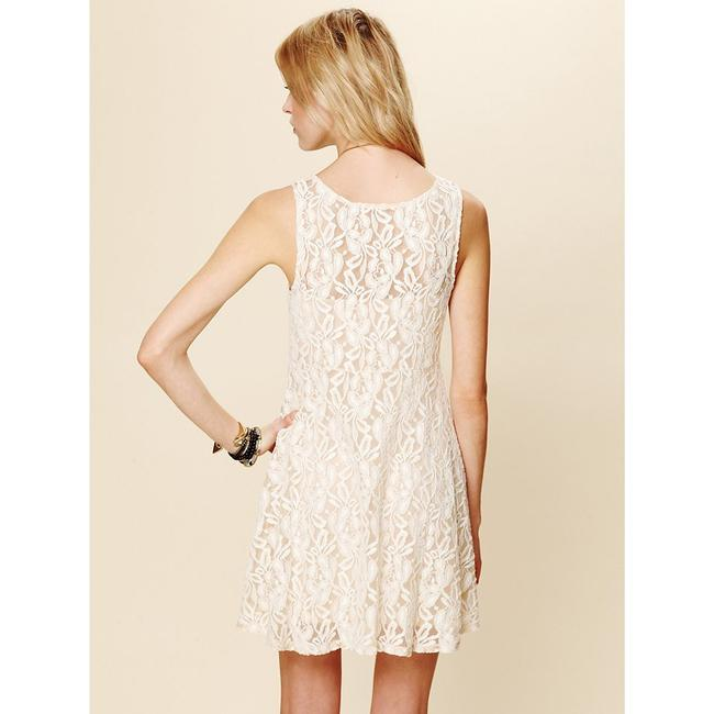 Free People short dress Ivory Miles Of Lace Fit & Flare Black on Tradesy Image 1