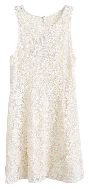 Free People short dress Ivory Miles Of Lace Fit & Flare Black on Tradesy Image 3