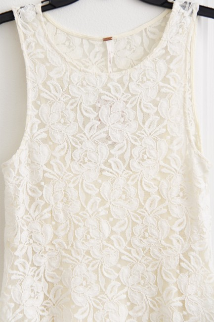 Free People short dress Ivory Miles Of Lace Fit & Flare Black on Tradesy Image 4