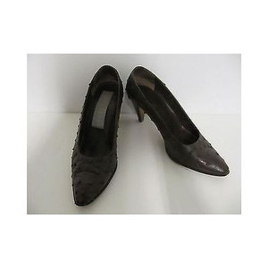 Other Vintage Womens Toby Lerner Skin Heels Brown Pumps
