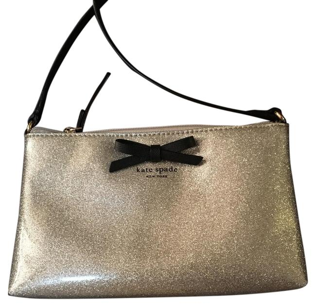 Item - Silver Sparkle Patent Leather Cross Body Bag