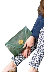 Elliott Lucca Green Clutch