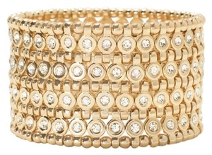 White House | Black Market golden wide stretch bracelet