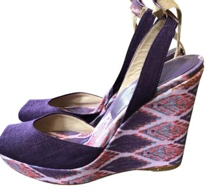 Theodora & Callum Purple Multicolored Wedges
