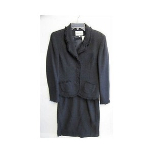 Albert Nipon Womens Albert Nipon Black Suite Piece Outfit