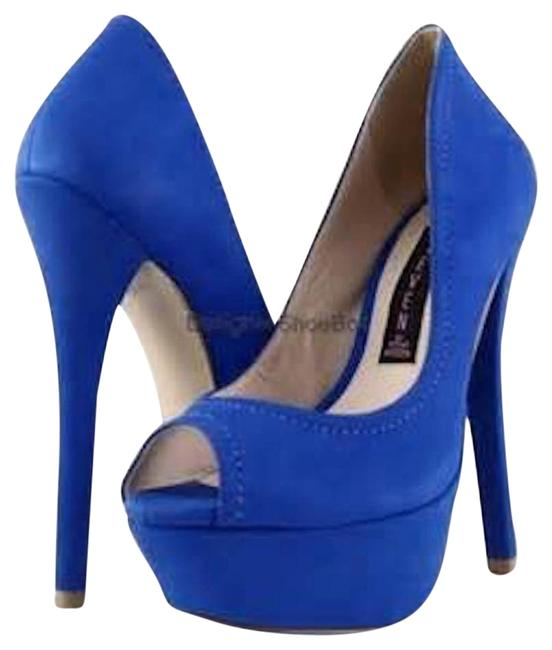 Item - Royal Blue Altetude Nubuck Platforms Size US 8 Regular (M, B)