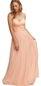 BHLDN Blush Tulle Tinsley Style #40844565 Formal Bridesmaid/Mob Dress Size 0 (XS)
