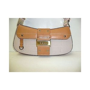 Other Christian Dior Canvas Tan Street Chic Columbus Handbag Shoulder Bag
