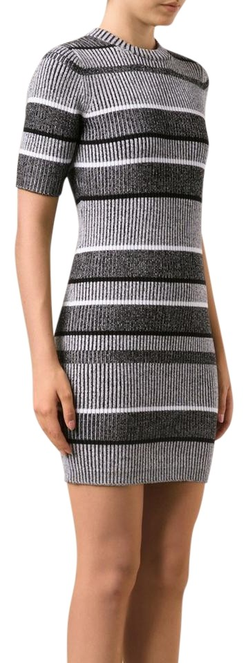 49ec8db397 T by Alexander Wang short dress Black and White Sweater Bodycon Ribbed  Winter on Tradesy Image ...