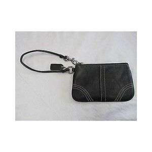 Coach ,Coach,Black,Leather,Wristlet,Wallet,Change,Purse