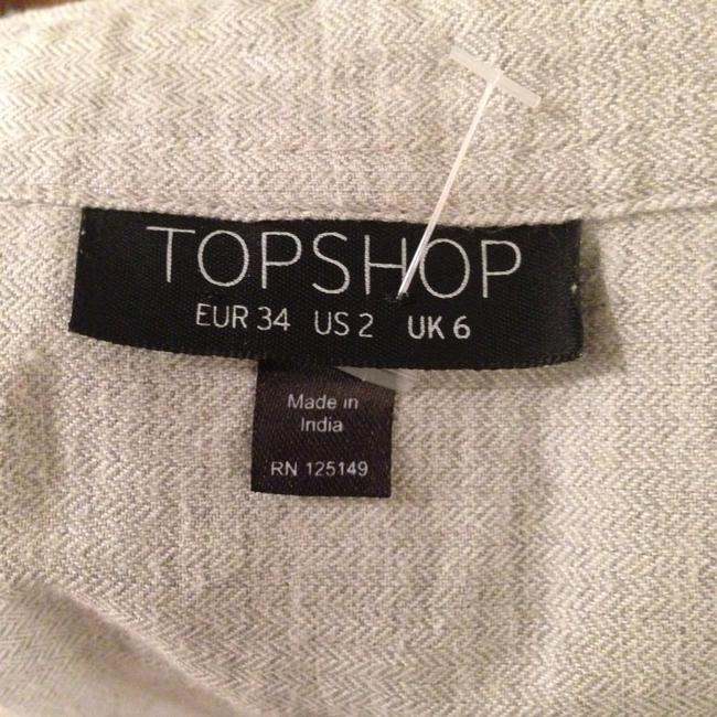 Topshop Button Down Shirt Gray Image 2