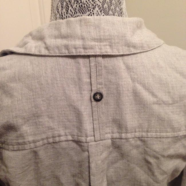 Topshop Button Down Shirt Gray Image 3