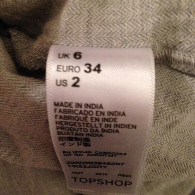 Topshop Button Down Shirt Gray Image 4