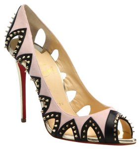 Christian Louboutin Circus City Stiletto Spike Pigalle gold Pumps