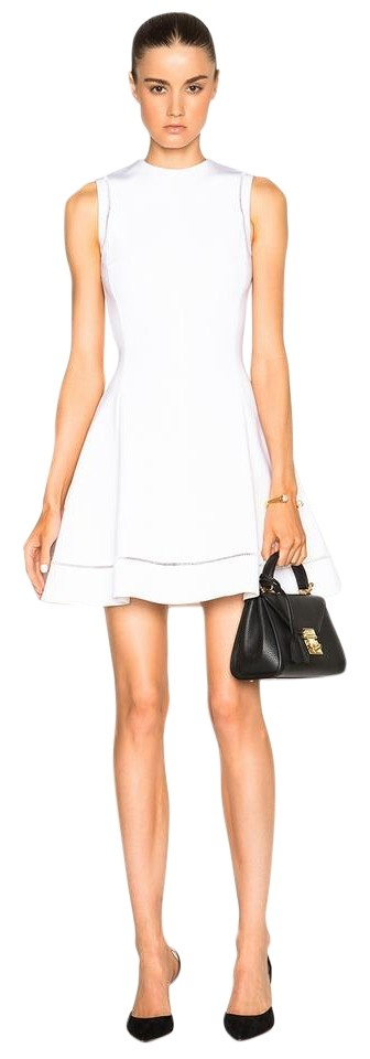 Victoria Beckham White Fit And Flare Short Cocktail Dress Size 10 M 78 Off Retail