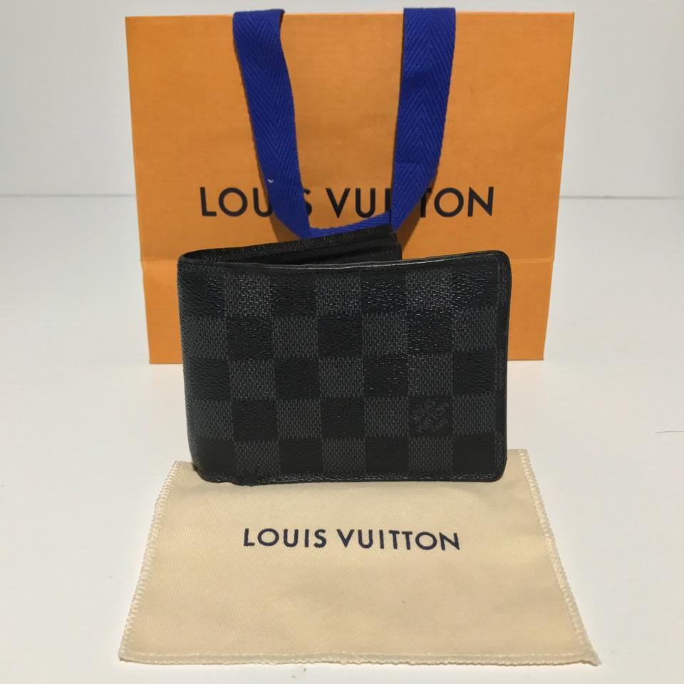 cca1f4c85e06 Louis Vuitton Damier Graphite Canvas Mens Lv Multiple De N62663 Wallet -  Tradesy