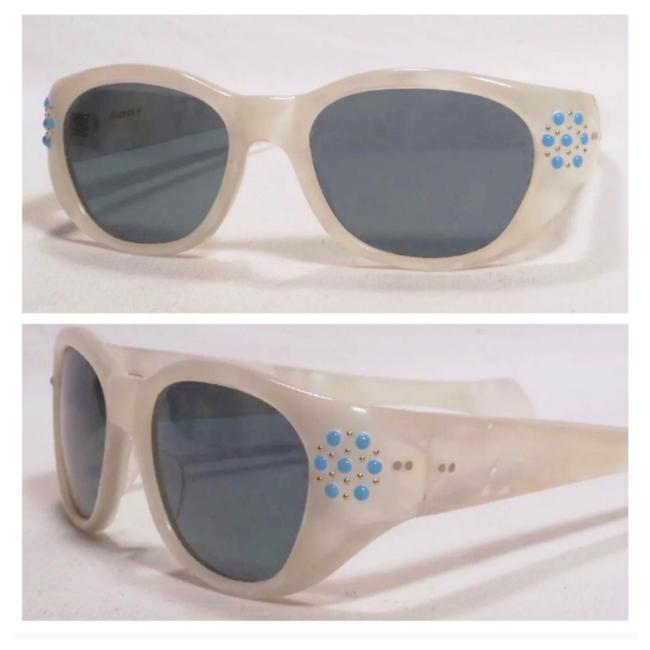 Item - Pearl 1960's French Hand Decorated Sunglasses