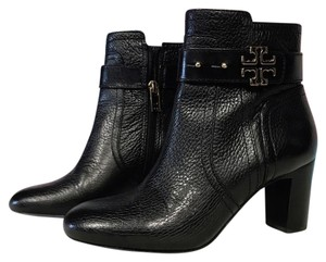 Tory Burch Leather Elina Ankle Black Boots