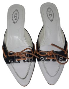 Tod's Leather White Mules