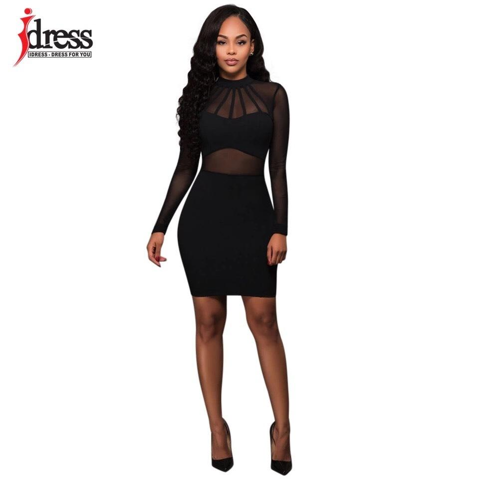 e22b0847daa Black Long Sleeve Bodycon Bandage Sexy Short Night Out Dress Size ...