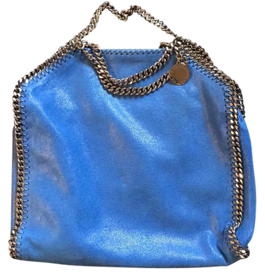 793e37cffd41 Stella McCartney Falabella Shaggy Deer Fold Over Tote Blue with ...