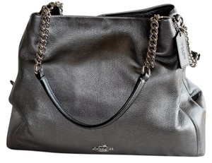 Coach Leather Chain Soft Shoulder Bag