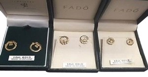 Fado ,Fado,Jewellery,Ireland,Claddagh,Stud,Earrings,10k,Yellow,Gold,Baby,,