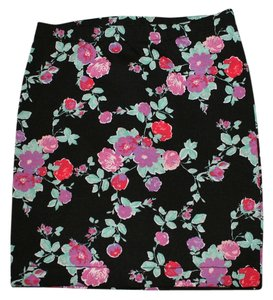 Candie's Bodycon Mini Floral Floral Mini Skirt Black Floral