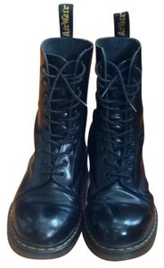 Dr. Martens Leather Water-resistant Black Boots
