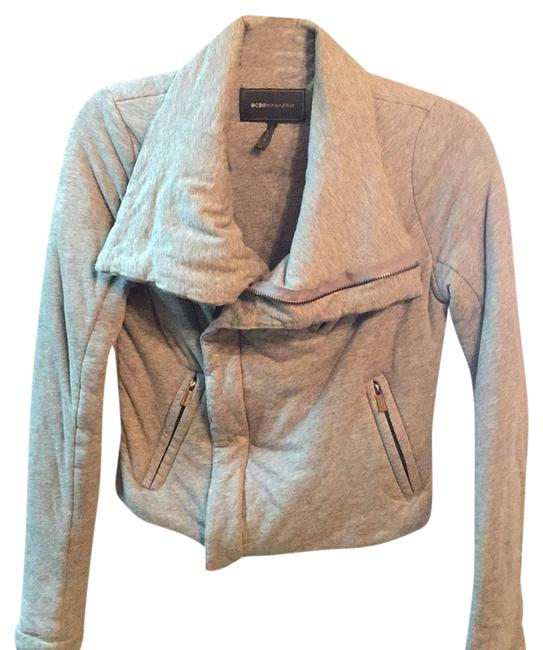 Item - Grey Sweatshirt Material Moto Jacket Size 8 (M)