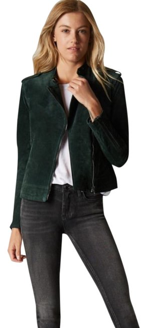Item - Evergreen Suede Leather Jacket Size 4 (S)