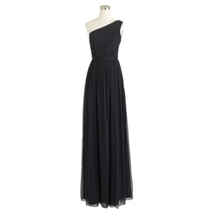 J.Crew Newport Navy Silk Chiffon Kylie Gown Long Formal Bridesmaid/Mob Dress Size 12 (L)