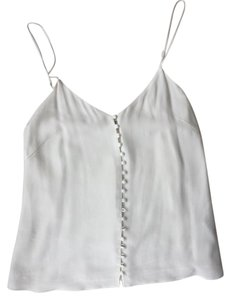 Aritzia Button Silk Top White