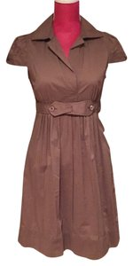 BCBGMAXAZRIA short dress Tan on Tradesy