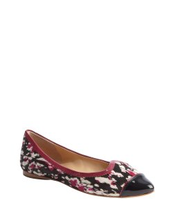 Belle by Sigerson Morrison black and pink dyed pony hair Flats