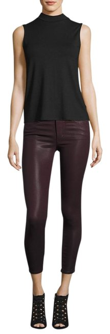 Item - Deep Orchid Merlot Wine Red Coated The Icon Skinny Jeans Size 28 (4, S)