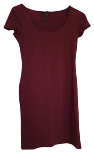 H&M short dress Maroon on Tradesy