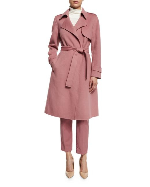 Item - Pink Oaklane Wool-cashmere Trench Coat Size 12 (L)