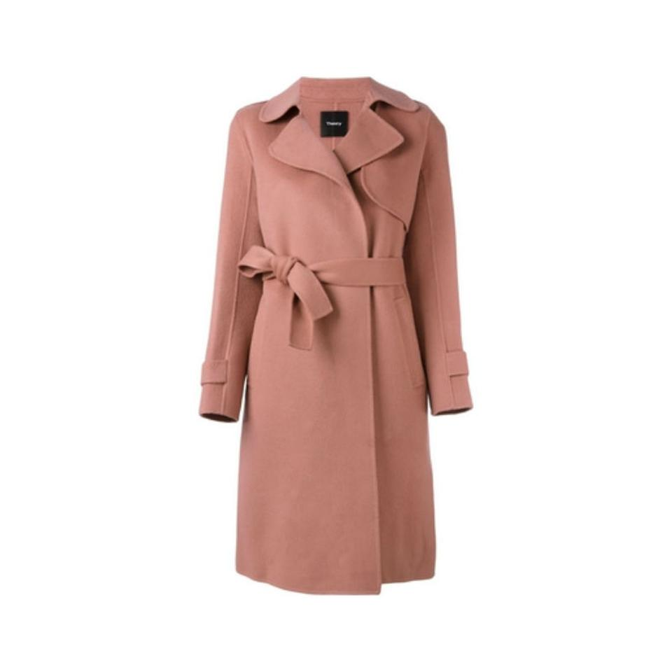 a4f5fb740c8 Theory Double-faced Wool Cashmere Trench Millennial Doublefaced Wool Coat  Image 2. 123