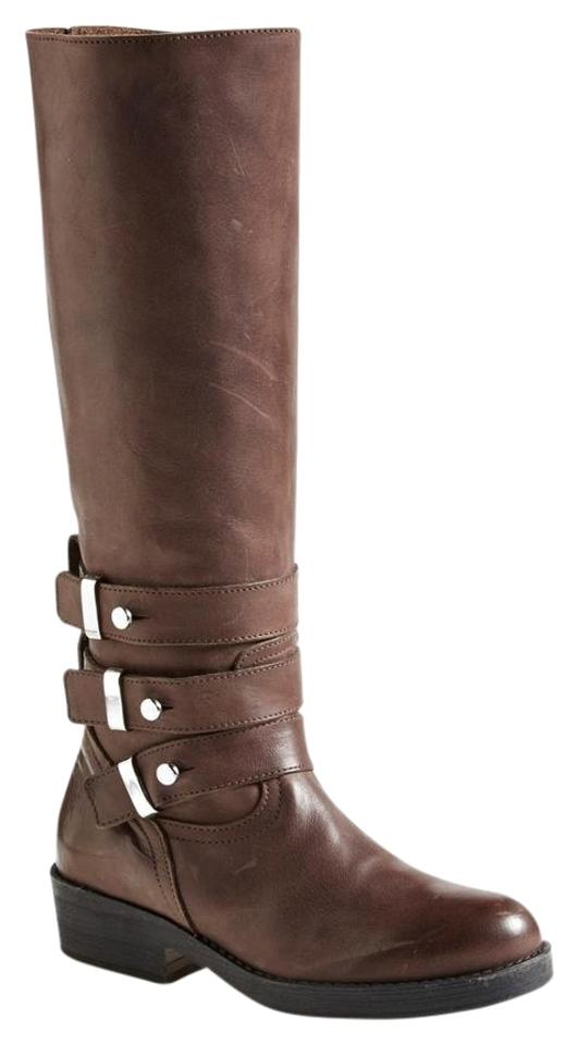 c3676cf8c79 Steve Madden Brown 'nanett' Belted Knee High Distressed Riding  Boots/Booties Size US 5.5 Regular (M, B) 57% off retail