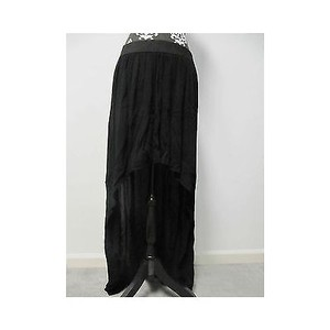 BCBGeneration Womens Bcbg Short Front Long Back Skirt Blacks