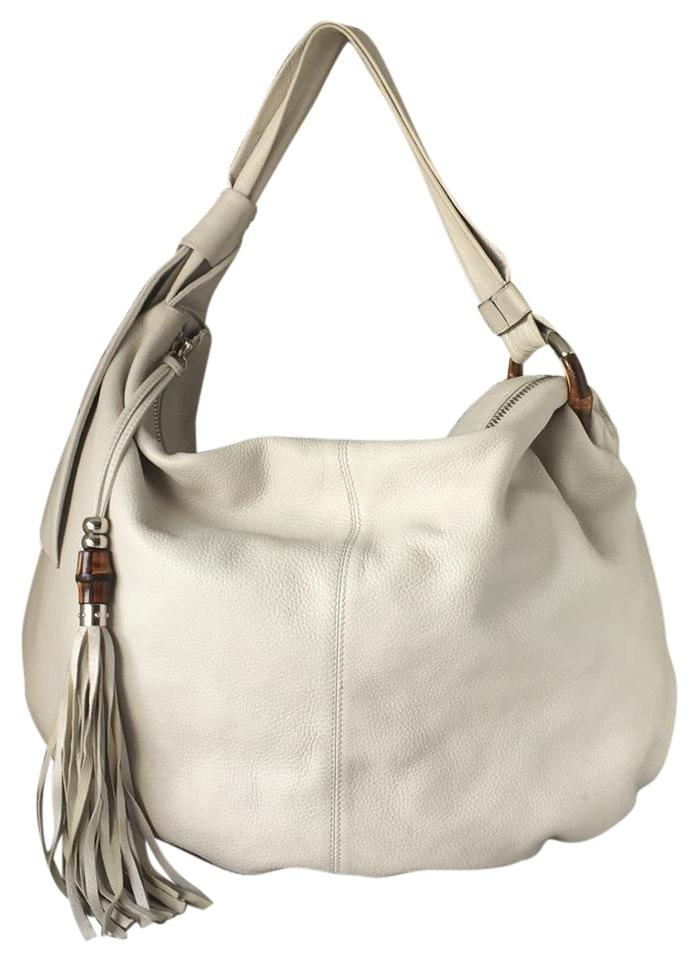 Gucci Bamboo Beige Leather Hobo Bag - Tradesy 8c11bdee28bfc