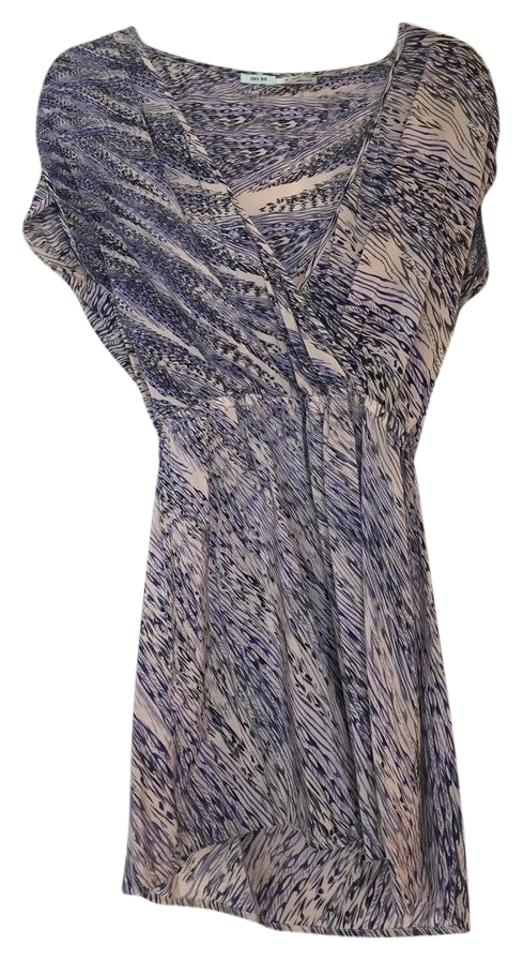 49b9bf0a516 Kimchi Blue Multicolor Urban Outfitters Wrap Style and White Silk Casual  Dress