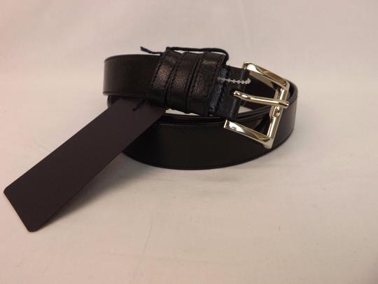 Prada Black/Silver Textured Leather Small Buckle Belt Size 80-32 Men's Jewelry/Accessory