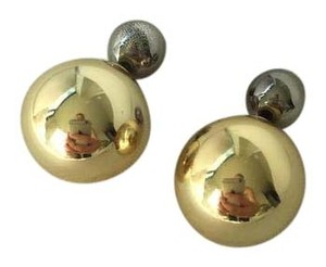 Nasty Gal Nast Gal Silver and Gold Ball Earrings