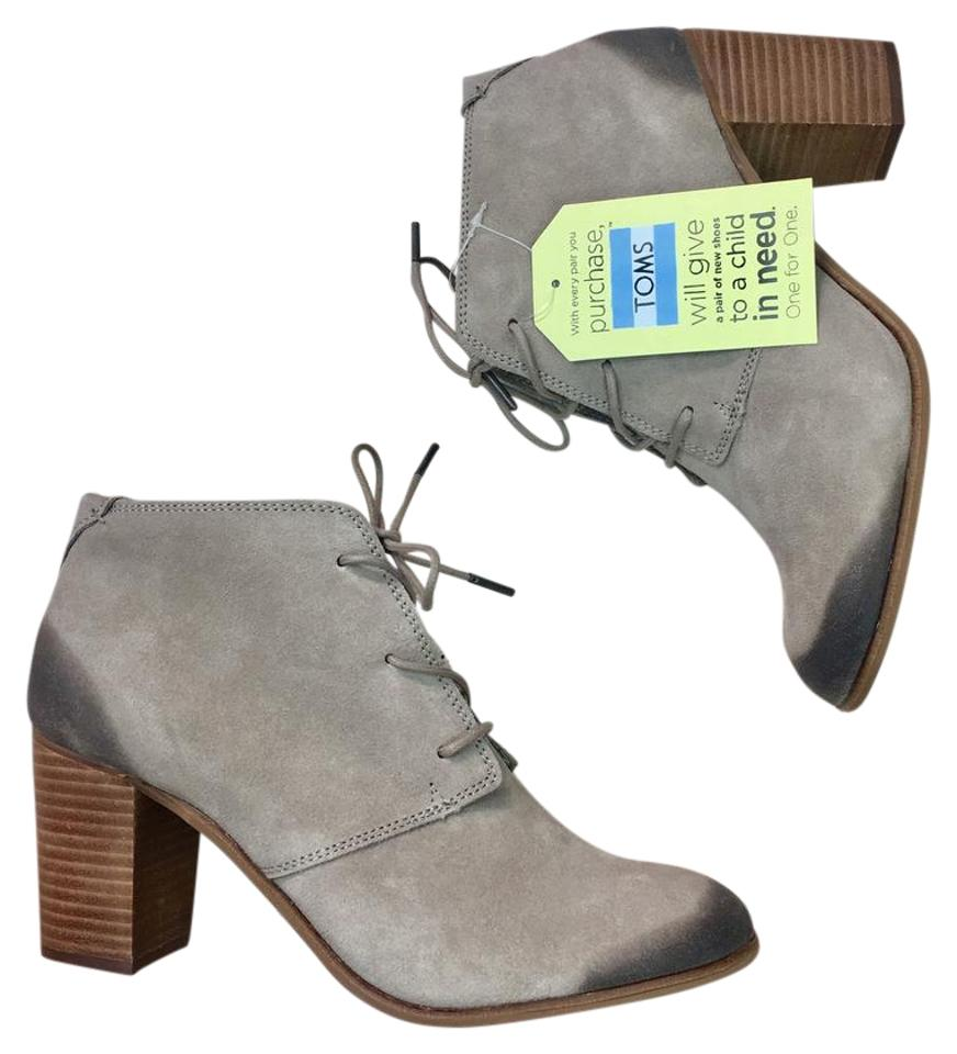 3b719353a TOMS Taupe Lunata Lace Up Desert Burnished Suede Boots/Booties Size ...