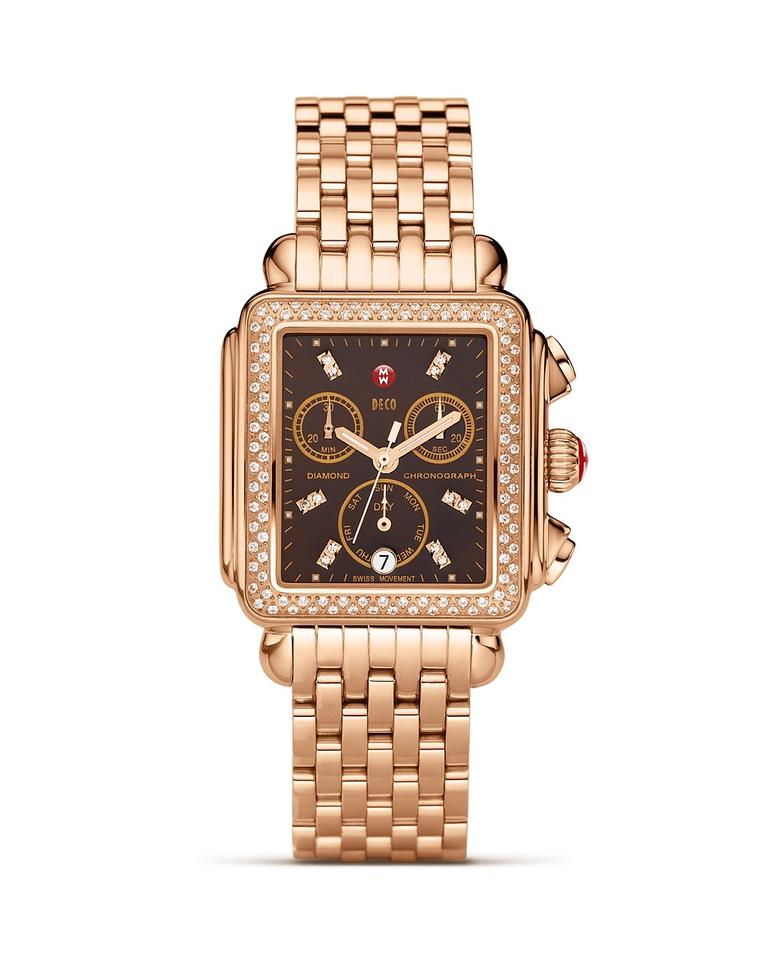 new deco diamond rose gold brown mop dial mww06p000095 ladies watch on tradesy. Black Bedroom Furniture Sets. Home Design Ideas