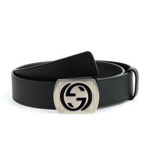 Gucci Cut-Out Interlocking G Buckle Leather Belt