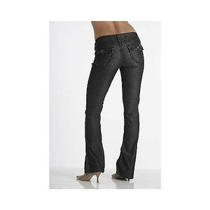 Other Womens Stitchs Chekore Navy Blue Velvet Striped Denim Boot Cut Jeans