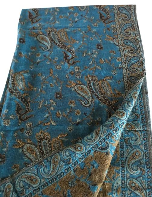 """Item - Multicolor New -----70"""" Silk and Pashima Fringed Scarf with Traditional Design Activewear Size OS (one size)"""